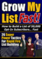 Thumbnail Grow My List Fast With Master Resale Rights