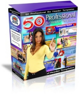 Product picture 50 Professional Header Templates with MRR