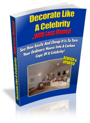Product picture Decorate Like A Celebrity (ebook + website) With MRR