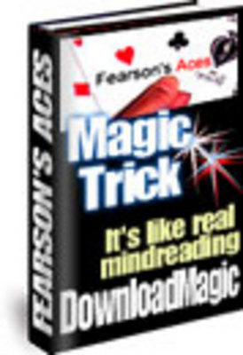 Product picture Fearsons Aces Magic Trick With Master Resale Rights