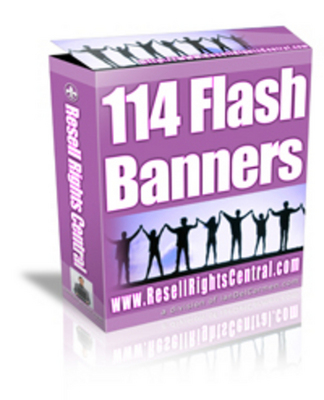 Product picture 114 flash banners With Master Resale Rights