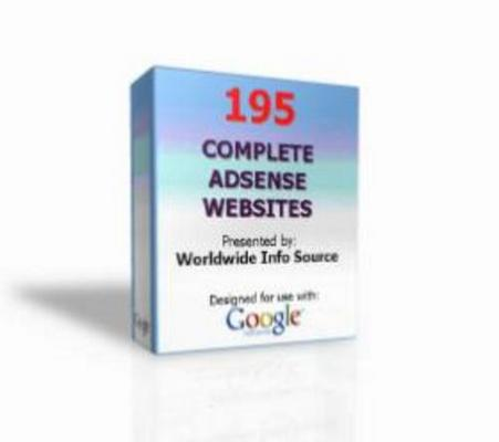 Product picture 195 AdSense Websites With Master Resale Rights