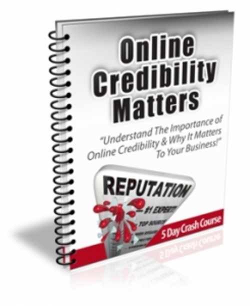 Product picture Online Credibility Matters With PLR & Readymade Site
