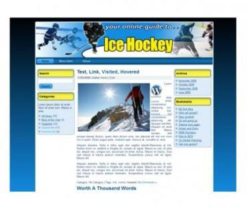 Product picture Ice Hockey Templates - PLR With Site